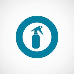 sprayer icon bold blue circle border.