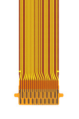 flat ribbon cable on a white background