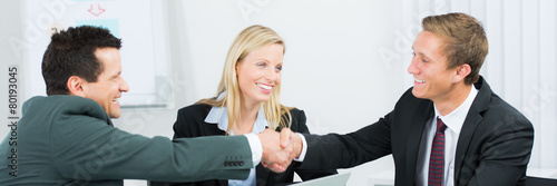 Leinwanddruck Bild verhandlungen im team