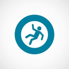 slippery floor icon bold blue circle border