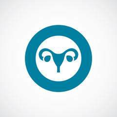 gynecology icon bold blue circle border