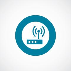 modem icon bold blue circle border