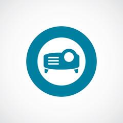 projector icon bold blue circle border