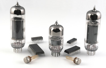 Vacuum radio tubes and microchips