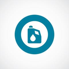 car oil icon bold blue circle border