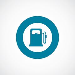 petrol station icon bold blue circle border