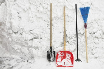 Tools for clearing snow.