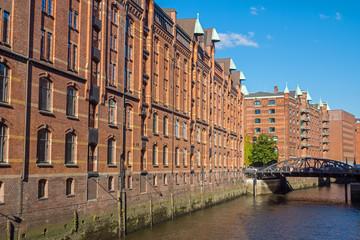 Buildings in the Speicherstadt in Hamburg, Germany