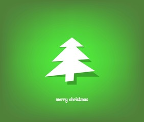 Modern christmas tree background, vector illustration