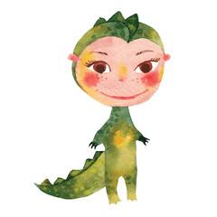 child dressed as a crocodile