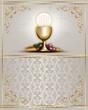 Leinwanddruck Bild - Communion card 1