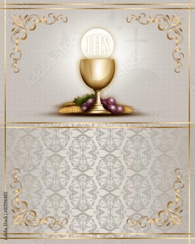 Leinwanddruck Bild Communion card 1