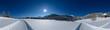 Leinwanddruck Bild - Winter Panorama 360°
