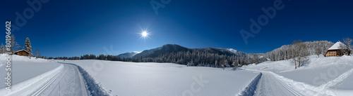 Leinwanddruck Bild Winter Panorama 360°
