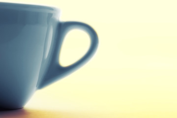 Blue cup handle