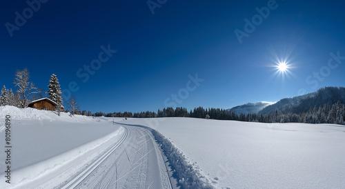 Papiers peints Montagne Highres Winter Panorama links