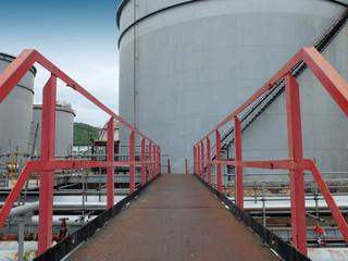 Walkway to the Oil Tank