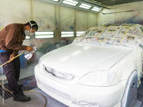 poster of car repainting work