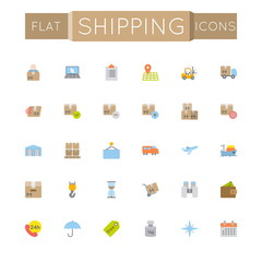 Vector Flat Shipping Icons