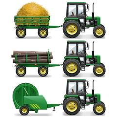 Vector Farm Tractors