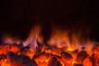 Leinwandbild Motiv Hot coals in the fire