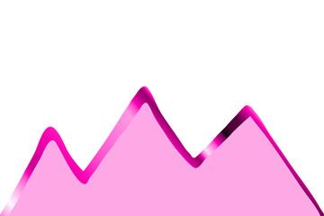 pinkfarbene Berggipfel...