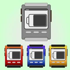 Colorful vector wristwatch set.