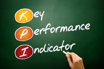 Key performance indicator (kpi), acronym on blackboard