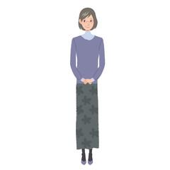 中年女性 イラスト