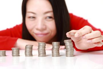 利益を増やす女性
