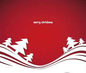 Modern christmas tree background, vector illustration