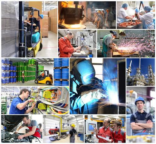 Berufe in der Industrie // Collage Industry jobs - 80201443