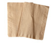 canvas print picture - brown napkin isolate on white (clipping path)
