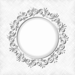 white textured background with floral frame