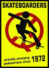Skateboarders Sign