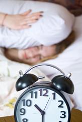 Sleep, wake up with alarm clock