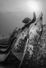 Mediterranean Sea, sunken ship wreck - FILM SCAN