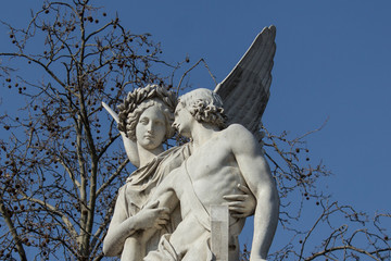 Angel Statues - Helping wounded / sick Partner