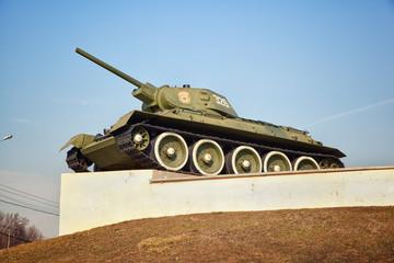 Soviet T-34 tank. Weapons of World War II