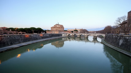 Fortress of San Angelo, Rome, Italy. TimeLapse