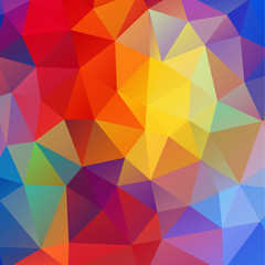 colorful triangular pattern background, vector illustration
