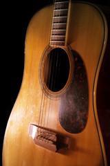 Wooden acoustic guitar,still life.