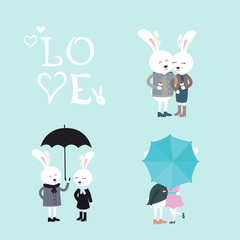Bunnies Vector Set