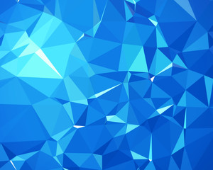 Blue, 3 d polygon background