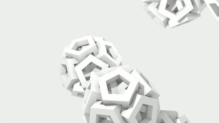 3D BACKGROUND - DECORATIVE WHITE PAPER SPHERES