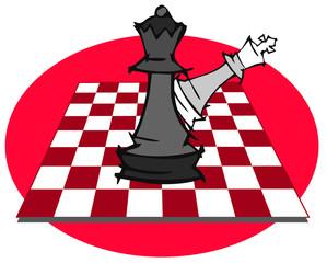 chess set, cartoon
