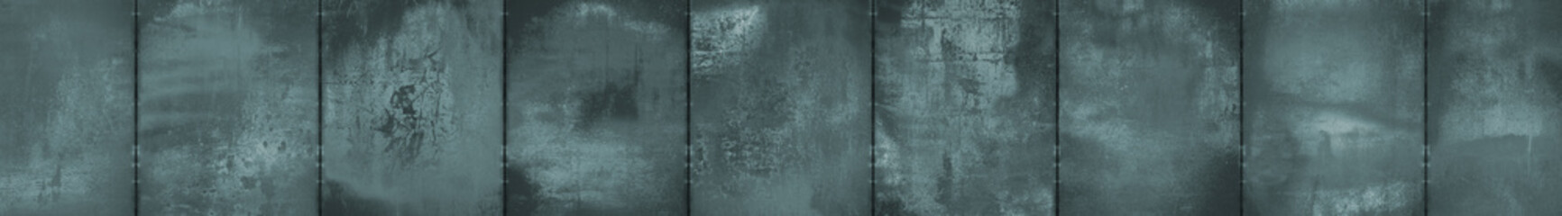 Monochrome Grungy Panoramic Metal Background (Letterbox Format)