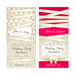 Wedding invitation cards set.