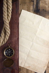 Rope with compass