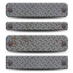 4 plaques métalliques